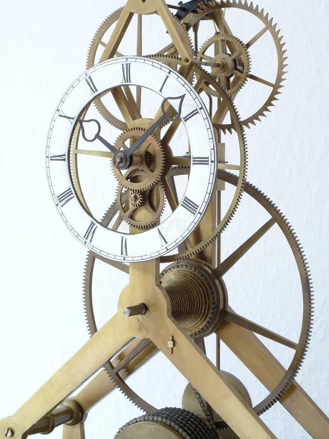 Particolare di scheletro dell'orologio immagine stock