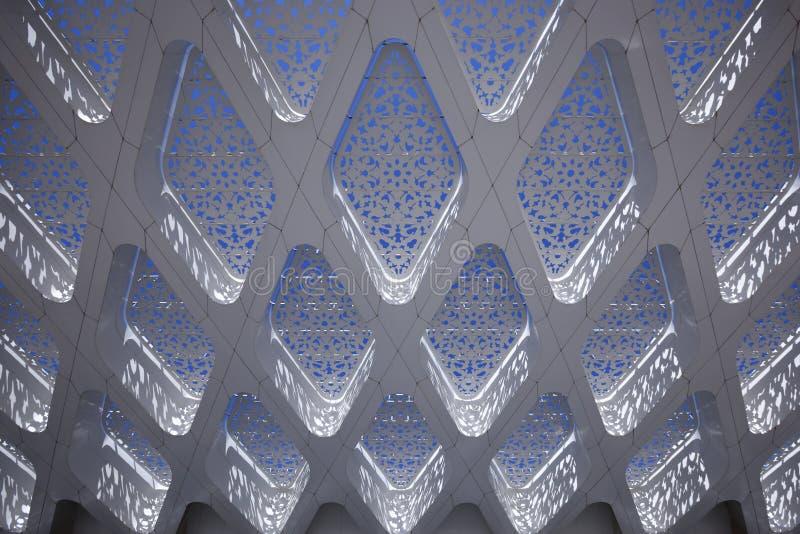 Particolare di una costruzione astratta araba moderna immagine stock