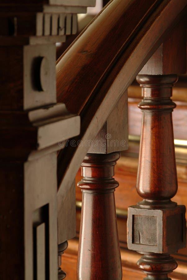 Particolare di una maniglia delle scale fotografie stock