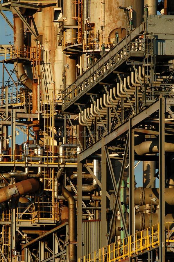 Particolare di una raffineria 7 fotografia stock