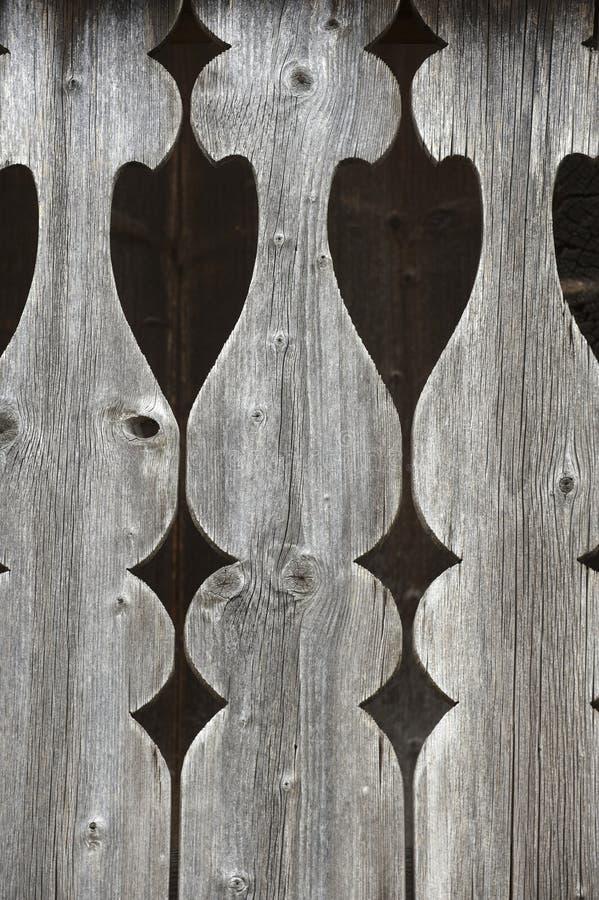 Particolare di vecchia inferriata del balcone fotografie stock