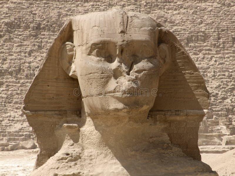 Particolare frontale dello Sphinx immagine stock