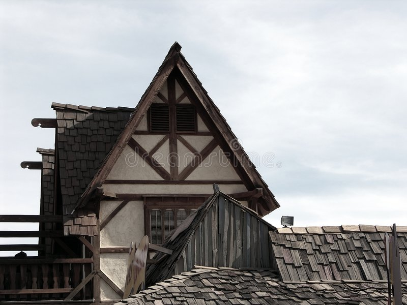 Particolare medioevale 12 della casa immagine stock