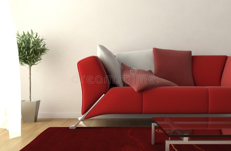 Particolare moderno del salone di disegno interno illustrazione vettoriale