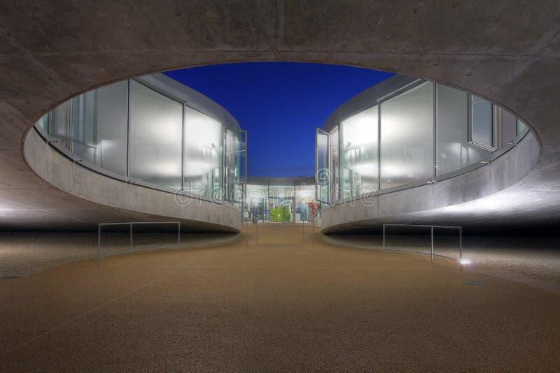 Particolare moderno di architettura, Losanna, Svizzera fotografia stock libera da diritti