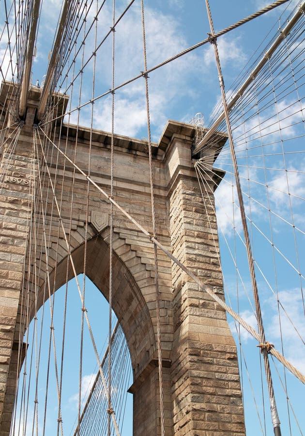 Particolare New York del ponte di Brooklyn immagine stock libera da diritti