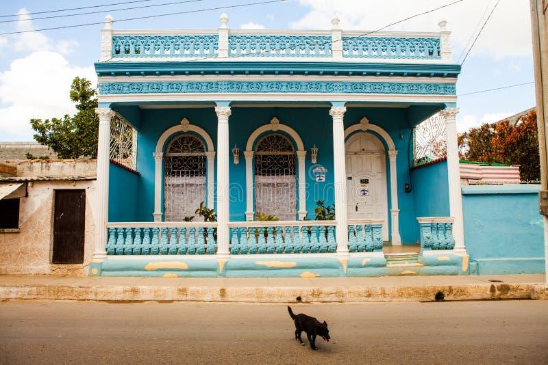 Particolare privato tipico della casa della sistemazione in Trinidad Cuba fotografie stock