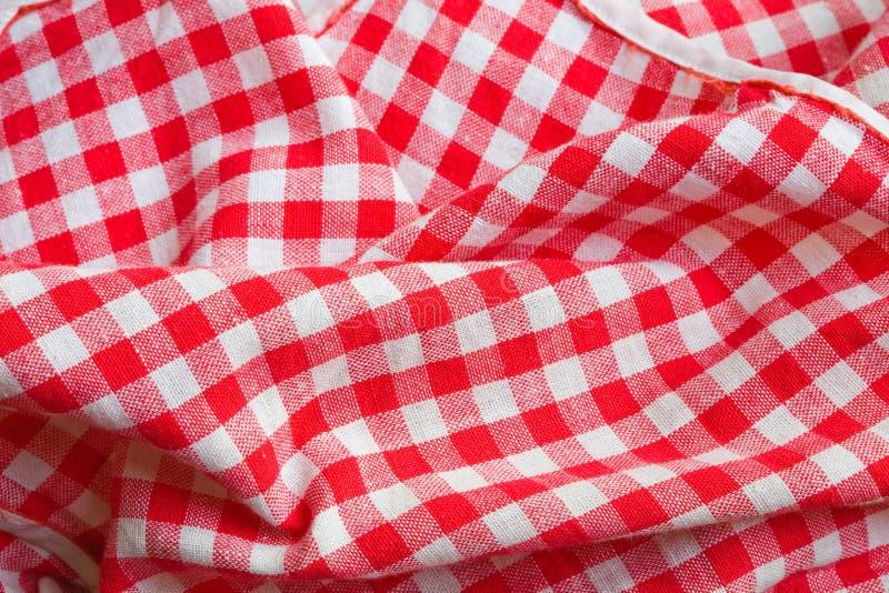 Particolare rosso del primo piano del panno di picnic immagini stock libere da diritti