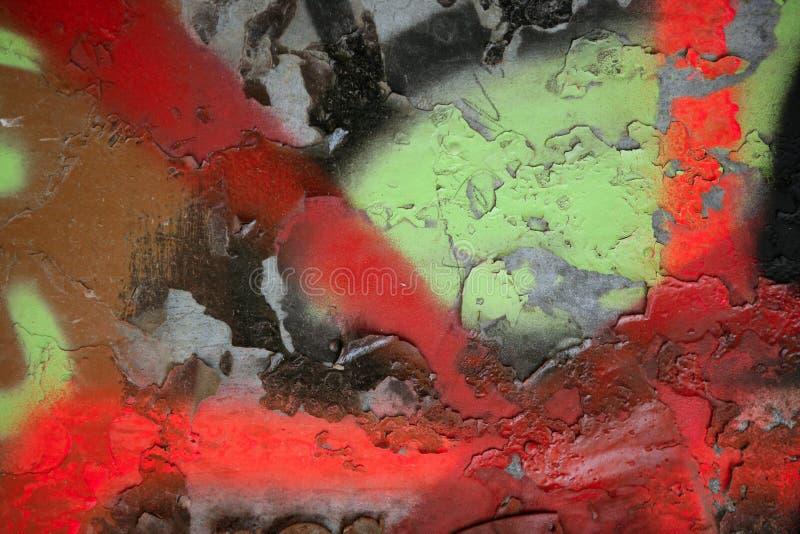Particolare verniciato graffiti variopinti della via fotografie stock libere da diritti