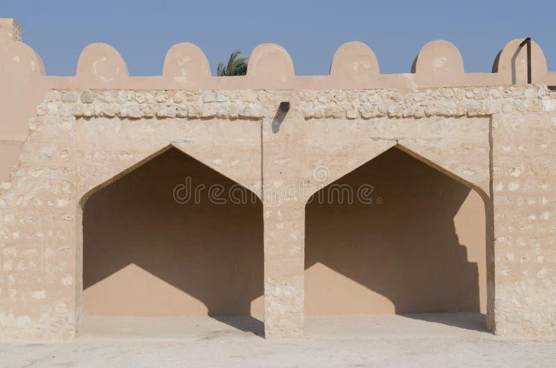 Particolari arabi della fortificazione fotografia stock libera da diritti