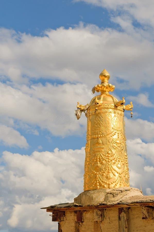 Particolari architettonici del monastero di songzanlin fotografia stock