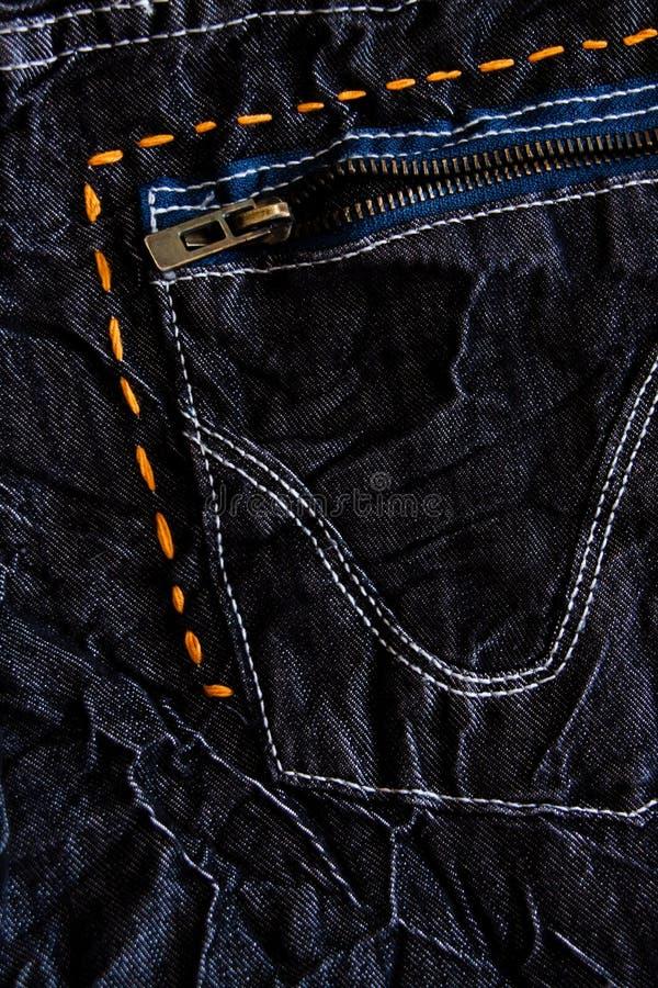 Particolari dai jeans neri immagini stock