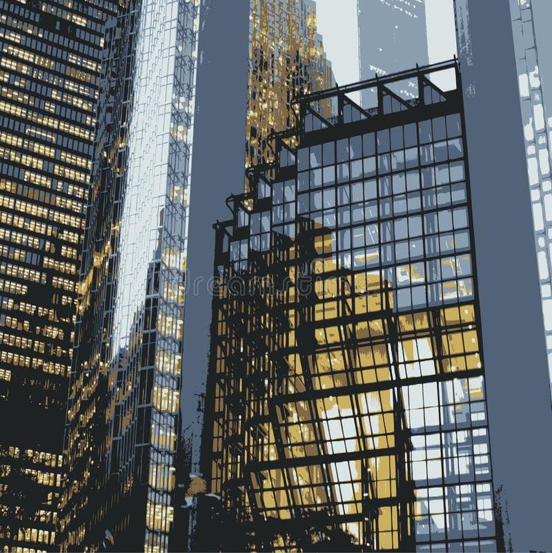 Particolari dei grattacieli royalty illustrazione gratis