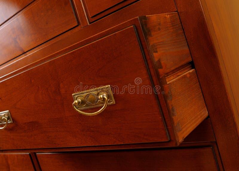 Particolari del cassetto immagini stock libere da diritti
