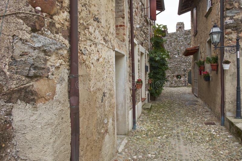 Particolari del castello di Padenghe fotografie stock