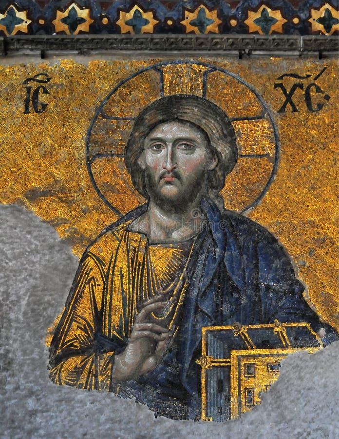 Particolari del mosaico dalla st Sophia immagini stock libere da diritti