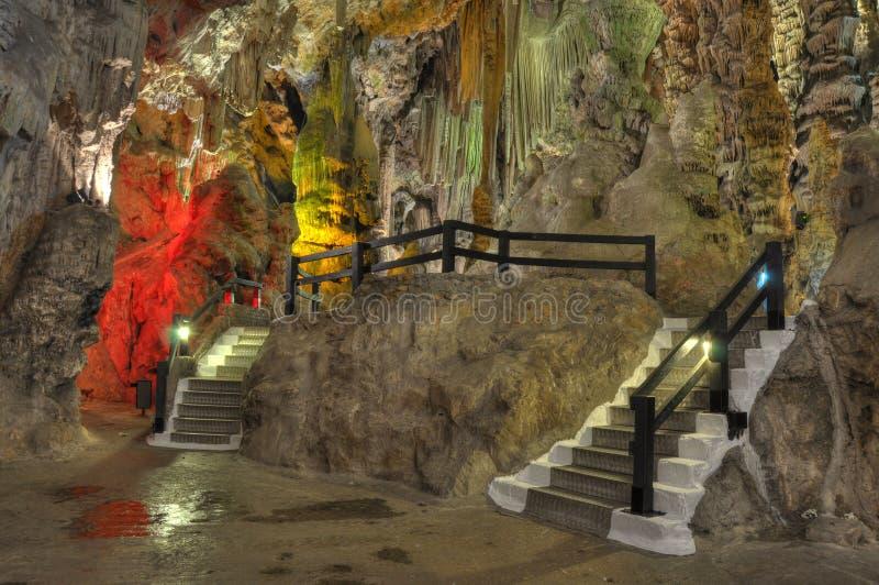 Particolari dell'interiore della caverna di Michelle del san immagine stock libera da diritti
