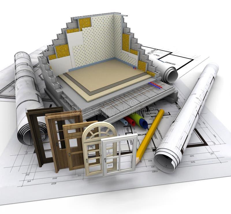 Particolari della costruzione illustrazione di stock