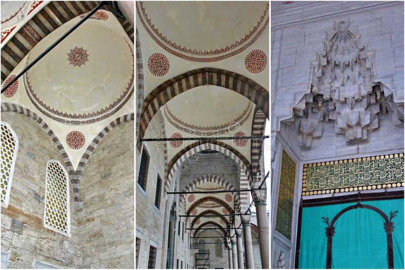 Particolari della moschea di Ahmed del sultano fotografia stock libera da diritti