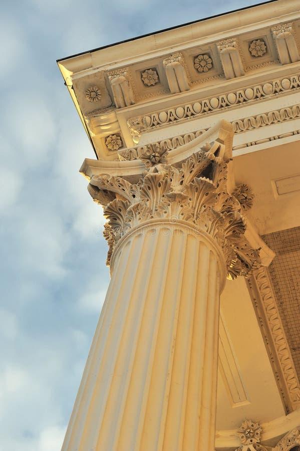 Particolari di architettura della colonna fotografia stock