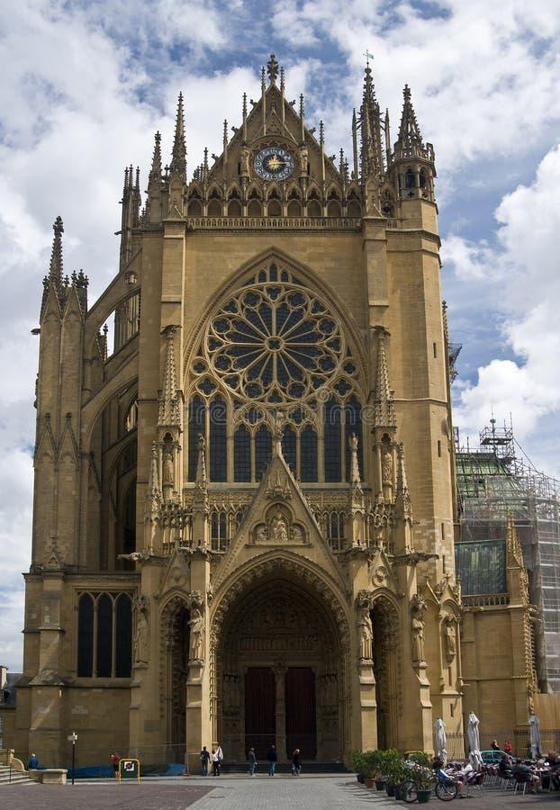 Particolari di St. Etienne della cattedrale immagini stock