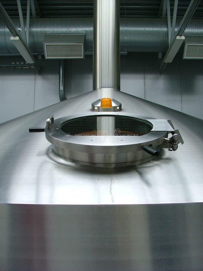 Particolari in fabbrica di birra fotografia stock