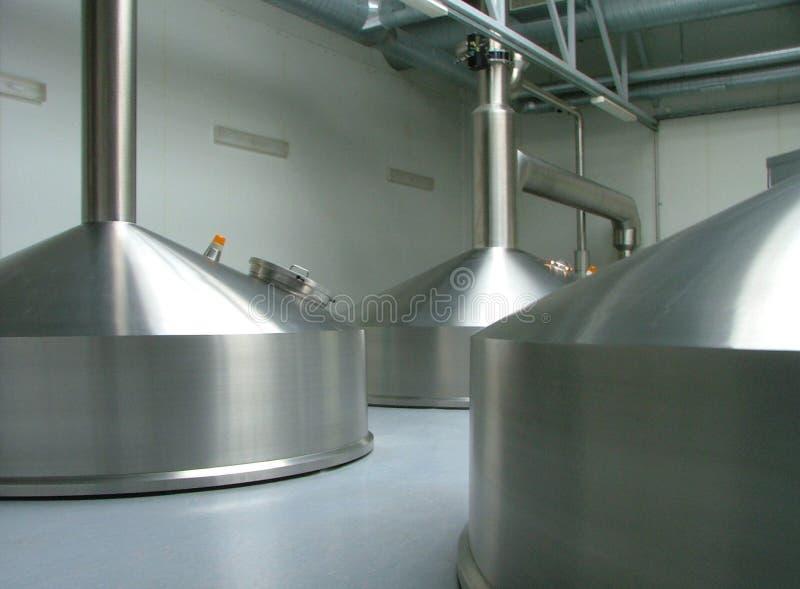 Particolari in fabbrica di birra fotografia stock libera da diritti