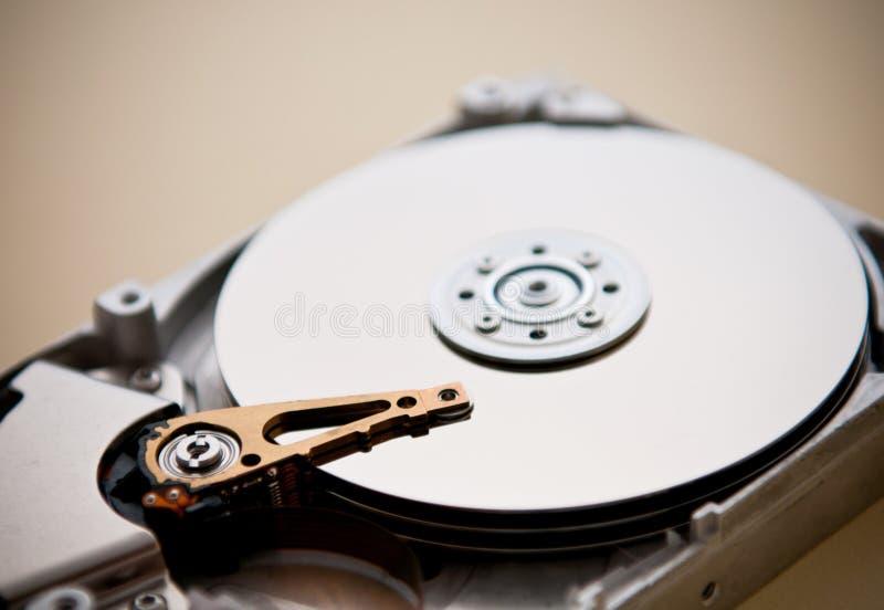 Particolari interni dell'azionamento di disco rigido fotografia stock