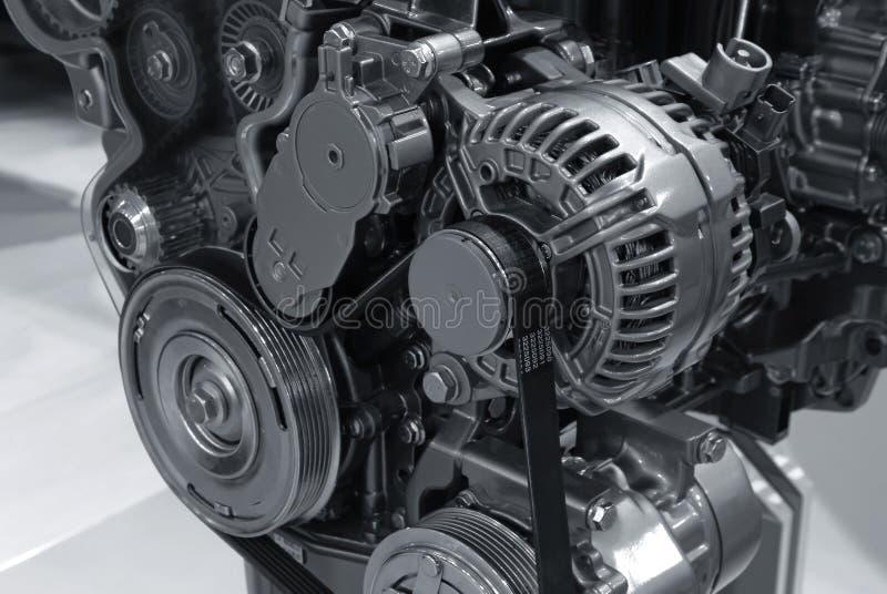 Particolari moderni del motore di potenza dell'automobile fotografia stock libera da diritti