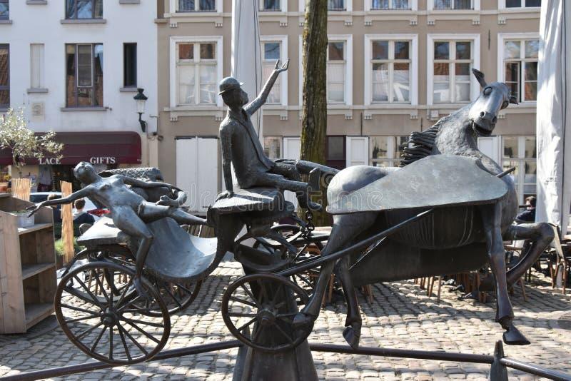 Particolarità nella bella città di Bruges fotografie stock libere da diritti