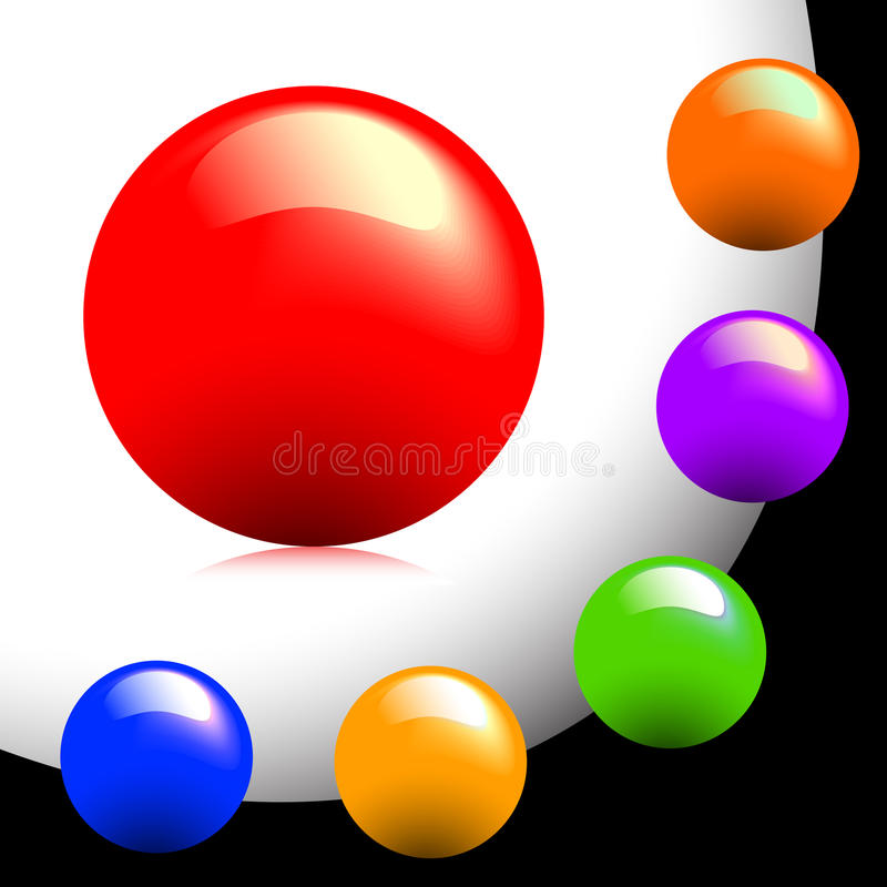 Free Particoloured Buttons Royalty Free Stock Photos - 9891688