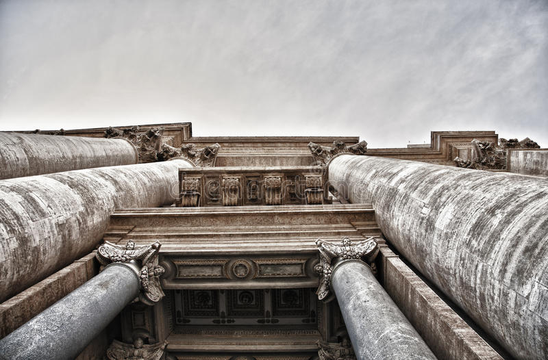 Particularly the colonnade of St. Peter. royalty free stock photography