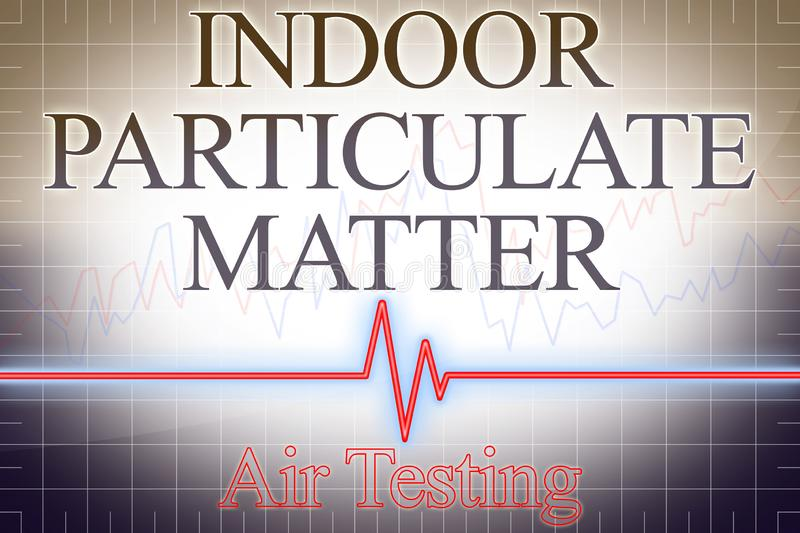 Particulate matter PM indoor pollutant Air Testing with graph - concept image stock images
