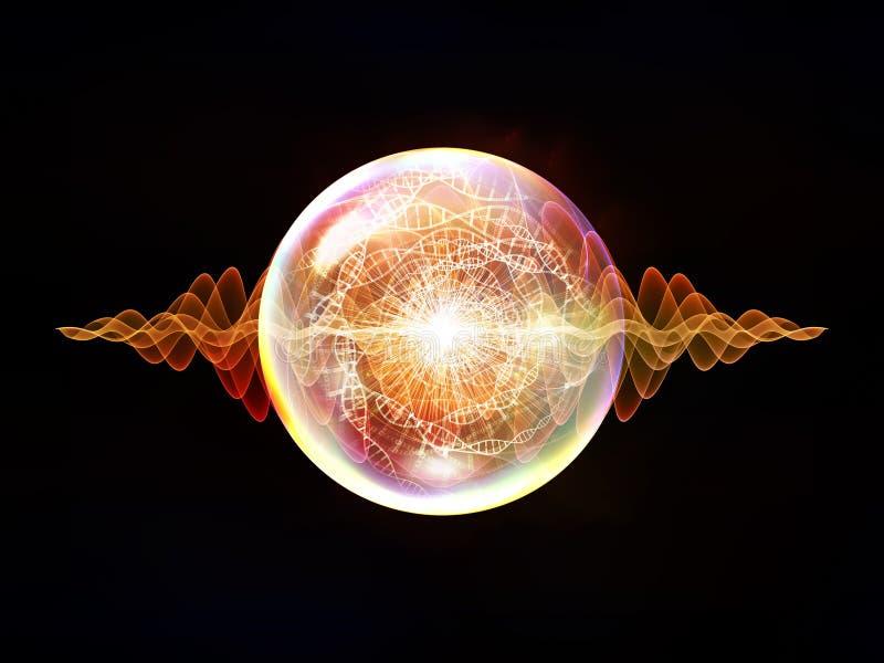 Particule virtuelle de vague illustration de vecteur