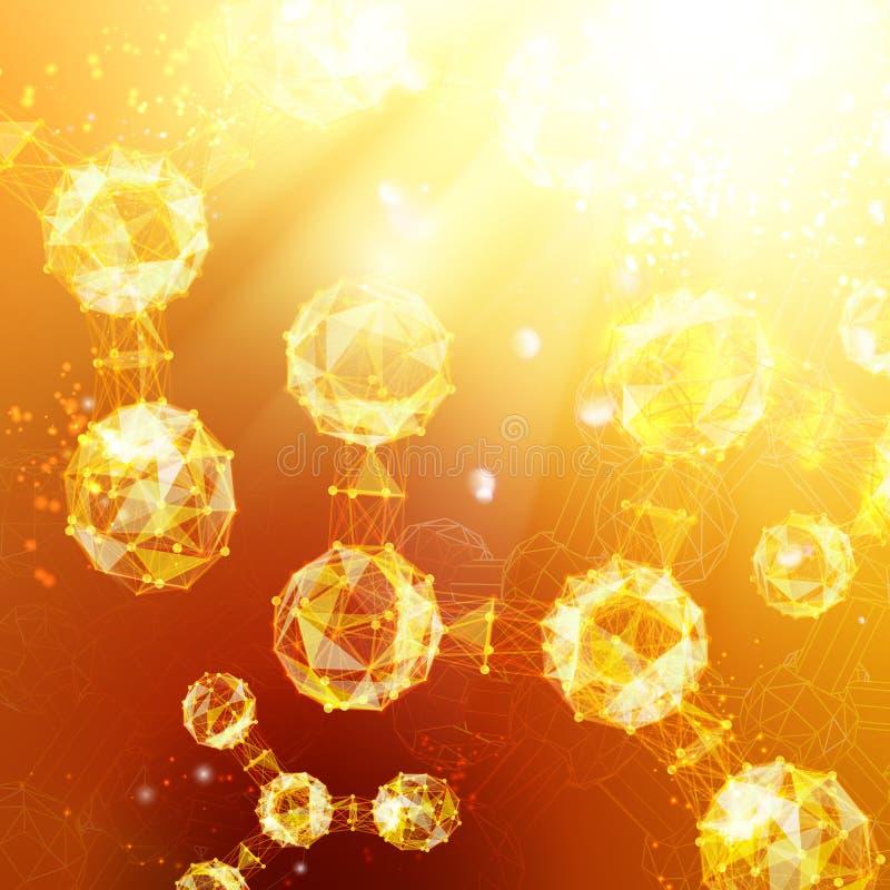 Particules d'atome illustration de vecteur
