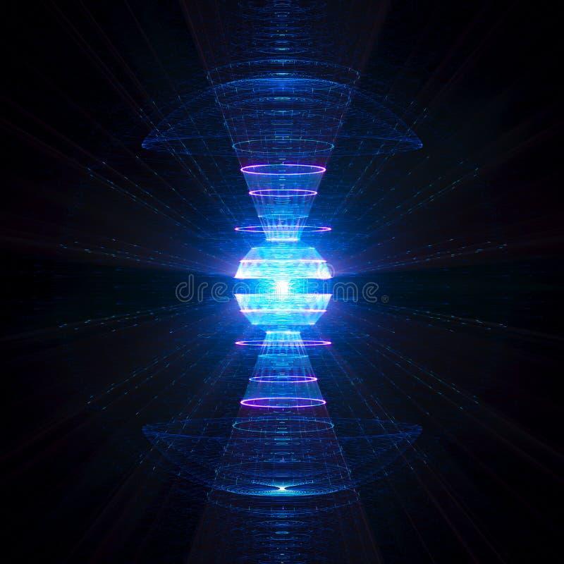 Particules de haute ?nergie formidables produisant la d?charge illustration libre de droits
