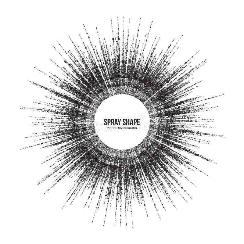 Particules rondes dispersion de vecteur radial d'abrégé sur illustration stock