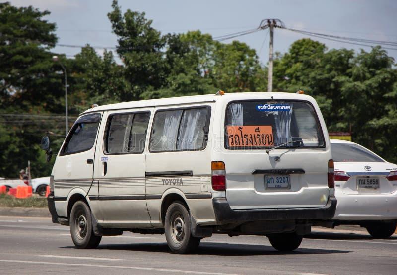 Particuliere schoolbestelwagen royalty-vrije stock afbeeldingen