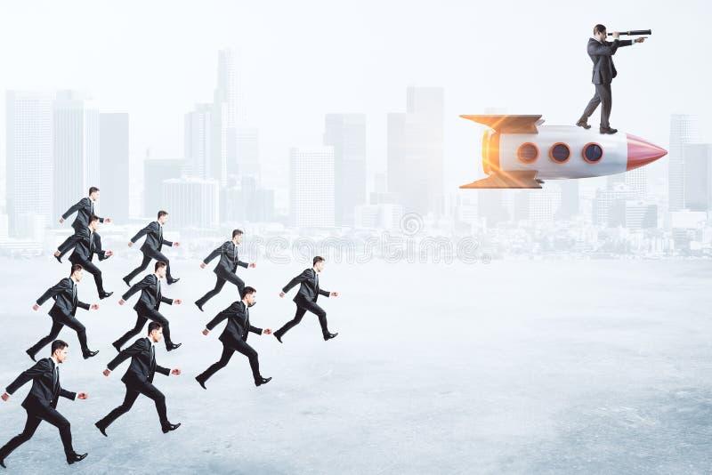 Partida, liderança e conceito da pesquisa fotos de stock