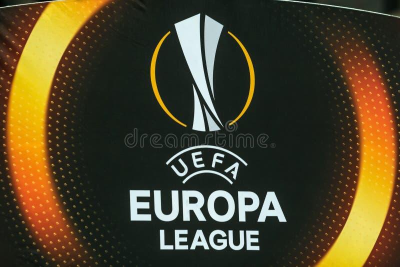 """Partidario del †de Kyiv del dínamo del partido de fútbol de la liga del Europa de la UEFA """", Dece fotos de archivo libres de regalías"""
