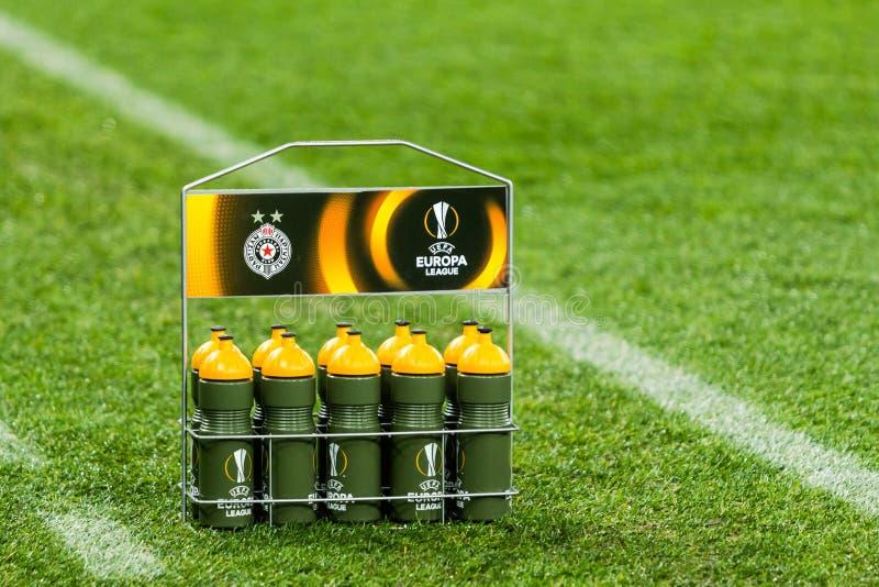 """Partidario del †de Kyiv del dínamo del partido de fútbol de la liga del Europa de la UEFA """", Dece foto de archivo libre de regalías"""
