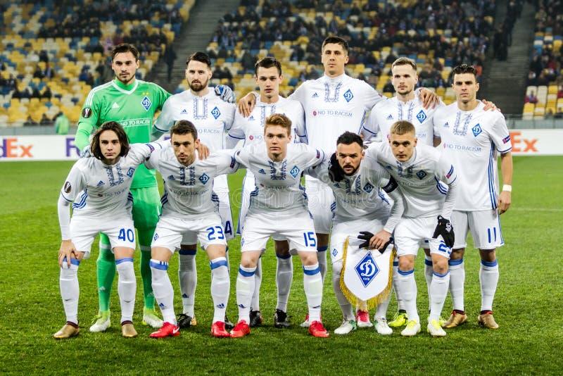 """Partidario del †de Kyiv del dínamo del partido de fútbol de la liga del Europa de la UEFA """", Dece fotografía de archivo libre de regalías"""
