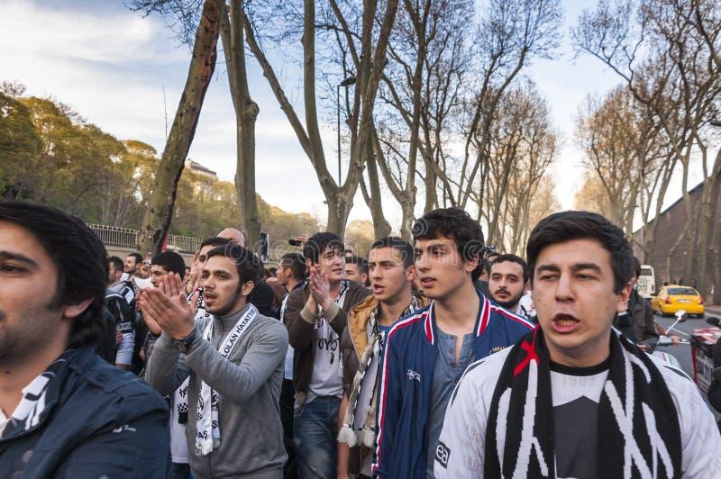 Partidarios de Besiktas, Estambul foto de archivo libre de regalías