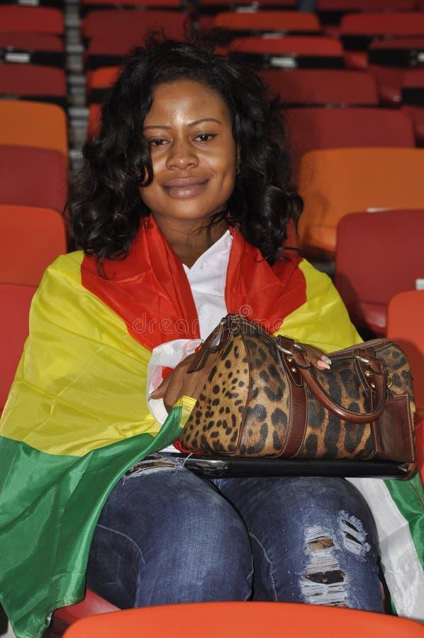 Partidarios de Ghana imagen de archivo