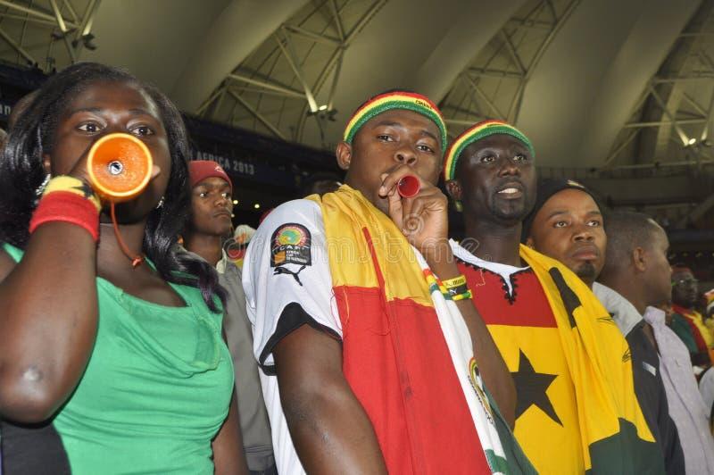 Partidarios de Ghana imágenes de archivo libres de regalías