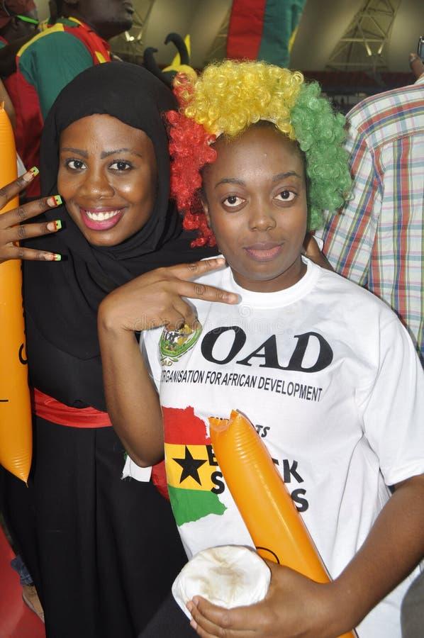 Partidarios de Ghana fotos de archivo