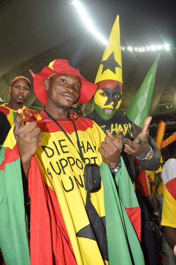 Partidarios de Ghana foto de archivo