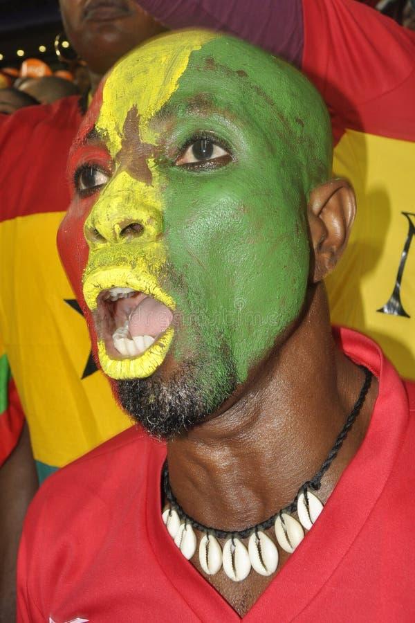 Partidarios de Ghana imagenes de archivo