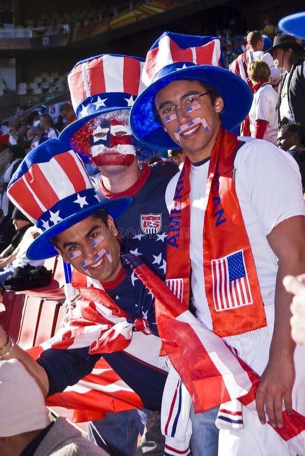 Partidarios del fútbol de los E.E.U.U. - WC 2010 de la FIFA imagen de archivo
