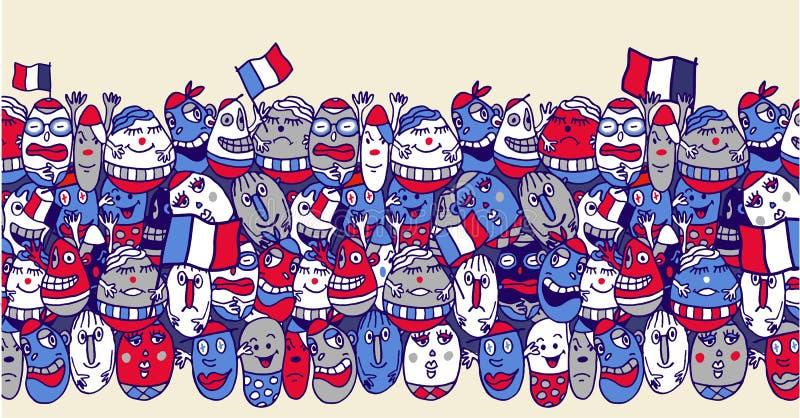 Partidarios franceses ilustración del vector